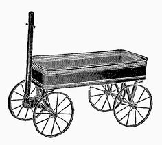 Antique Images: toy wagon