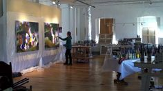 Elise Ansel in her Maine Studio (video)