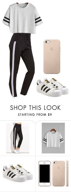 """Outfit"" by andreeadeeix12 ❤ liked on Polyvore featuring adidas"