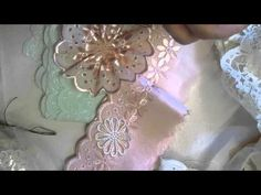 Ric Rac Daisy Flower Tutorial - jennings644 - YouTube-  Love making flowers with eyelet lace trims