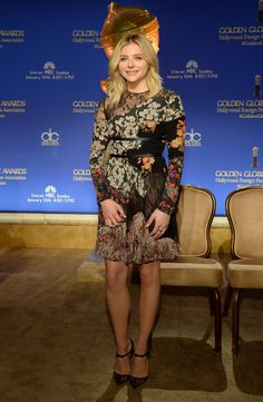 Chloe Grace Moretz in Valentino Resort 2016 - 73rd Annual Golden Globe Awards Nominations Announcement - December 10, 2015