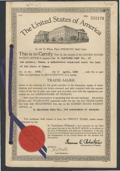Trademark - B. Martinez and Sons. UTSA Libraries Special Collections