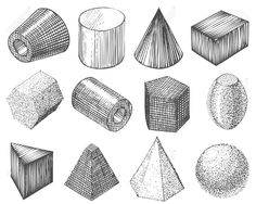 geometric shapes drawing form shadow shading basic object tattoo nature sketching related geometrical google geometry cube ua