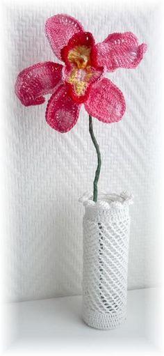 Gehaakte Orchidee ~ 1 stuk van Titfer Designs op DaWanda.com