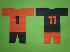 Voetbal shirt van papier