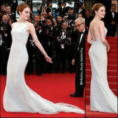 FASHION FROM CANNES FILM FESTIVAL 2015#EmmaStone in #ChristianDior #Couture #CoutureGown #CoutureDress #gown #Cannes #Cannes2015 #fashion #style #celebrity #hollywood #denim #beautiful #ostrich #pretty #stylish #lookbook #look #ootd #outfit #heels #shoes #nofilter #makeup... - Celebrity Fashion
