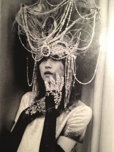 Headdress. dripping with chains and beads