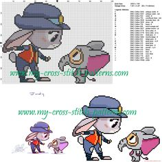 Judy chibi cross stitch pattern