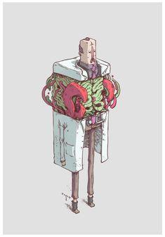 Las divertidas y cúbicas ilustraciones del neozelandésTea Wei.                    — Tea Wei web Tea Wei tumblr Tea Wei Facebook