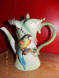 Franz Porcelain Parrot Teapot   eBay