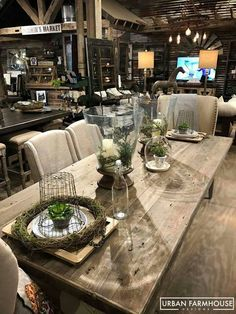 Rustic Farmhouse Decor, Country Farmhouse, Dining Room Design, Interior Design Living Room, Furniture Store Display, Urban Farmhouse Designs, French Country Decorating, Cottage Style, Booth Displays