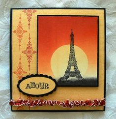 Paris at Sunset by lincoln4460 - Cards and Paper Crafts at Splitcoaststampers