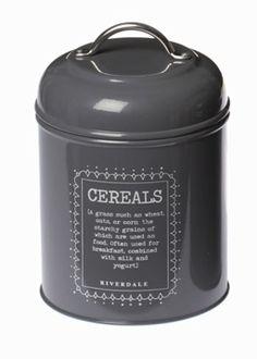 Pojemnik Cereals grey - BelleMaison.pl Rice Cooker, Cereal, Container, Kitchen Appliances, Grey, Food, Diy Kitchen Appliances, Gray, Home Appliances