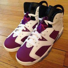 low priced 8f817 77c0d Air Jordan 6 Retro Girl s White Vivid Pink-Bright Grape-Black. Share