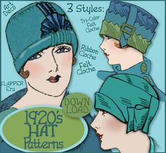 Flapper Hat Sewing Pattern | SEW 3 Vintage 1920s FLAPPER CLOCHE Hat