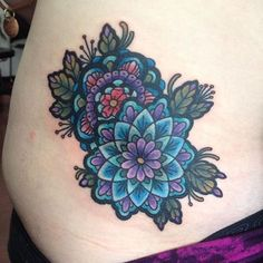 Check out this beautiful mandala tattoo @iamkrysc did to cover up something else! #