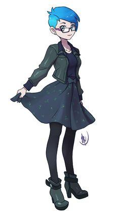 Fakemon Trainers favourites by witheredfnaf on DeviantArt Pokemon Rpg, Pokemon Waifu, Pokemon Fan Art, Pokemon Stuff, Game Character Design, Character Design Inspiration, Character Art, Pokemon People, Anime Art Girl