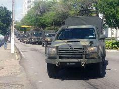O Brasil sempre em pânico...Homens do Exército chegaram ao Rio Grande do Norte na manhã desta quarta-feira (3). Eles vão se…