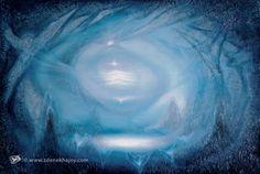 Vesmírná laguna, 2008, olej, 151 x 200 - ZDENĚK HAJNÝ - Galerie Cesty ke světlu