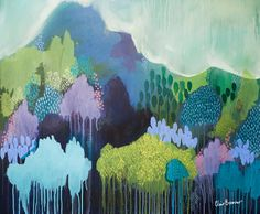 Debajo de mis pies, impresión de Bellas Artes, la pintura abstracta por Clair Bremner
