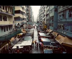 a rainy day at mong kok by ~Fersy