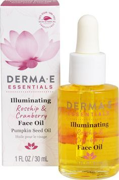 Derma E Illuminating Rosehip & Cranberry Face Oil -- 1 fl oz - Vitacost Facial Oil, Facial Skin Care, Anti Aging Skin Care, Younger Skin, Younger Looking Skin, Essential Oils For Face, Pumpkin Seed Oil, Make Up Tricks, Products