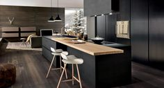 Weekly Design Inspiration: our BCN stool at home in a contemporary kitchen setting Modern Kitchen Design, Interior Design Kitchen, Black Kitchens, Home Kitchens, Modern Kitchens, Home Decor Kitchen, Kitchen Dining, Küchen Design, Symbol Design