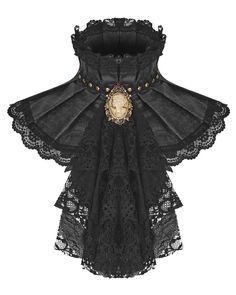 New Punk Rave Womens Steampunk Jabot Collar Cravat Tie Black Lace Gothic Aristocrat Womens Accessories. Fashion is a popular style Gothic Mode, Gothic Lolita, Gothic Girls, Steampunk Fashion, Victorian Fashion, Victorian Era, Victorian Collar, Steampunk Diy, Dress Dior