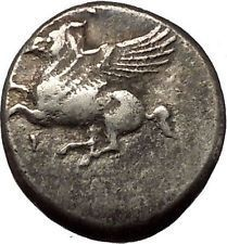 CORINTH 375BC Athena Pegasus Silver Stater Authentic Ancient Greek Coin i54357 https://trustedmedievalcoins.wordpress.com/2016/02/14/corinth-375bc-athena-pegasus-silver-stater-authentic-ancient-greek-coin-i54357/