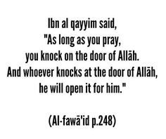 As long as you pray
