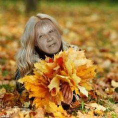 Beautiful Blonde - Fall Leaves