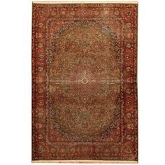 Herat Oriental Indo Hand-knotted 1920s Antique Tribal Kashmiri Wool Rug (4' x 6')