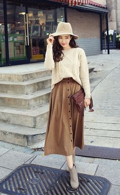 Com asian women clothing wholesale sweater skirt outfit, skirt outfits, Maxi Outfits, Modest Outfits, Classy Outfits, Fashion Outfits, Style Fashion, Maternity Fashion, Modest Fashion, Skirt Fashion, Sweater Skirt Outfit