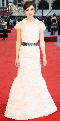 Knightley sweetened up the Anna Karenina premiere in a rosette Chanel Couture gown.