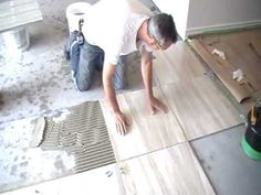 How To Install Ceramic Tiles On Floor - Ceramic Tile Flooring Installation, Build House Step by Step - YouTube