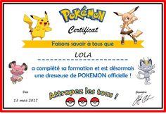 Super-Zouzou et… son anniversaire Pokemon… #2 : les diplômes
