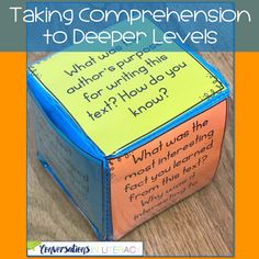 Reading Comprehension Questions for Deeper Conversations-Reading Comprehension Strategies and comprehension activities for guided reading and literacy center time!  #guidedreading #comprehension #classroom #elementary #conversationsinliteracy #readinginterventions #firstgrade #secondgrade #thirdgrade