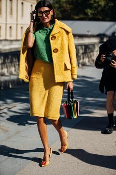 As the fashion pack arrives in the french capital for Paris Fashion Week, see the best street style looks and trends from the streets outside the shows