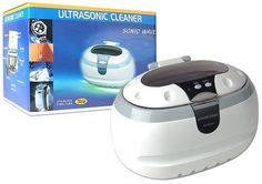 Sale at Komplete Kollection Generic Sonic Wave Ultrasonic Jewelry & Eyeglass Cleaner (White/Gray)