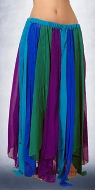 Chiffon Skirt Multi Color Panels