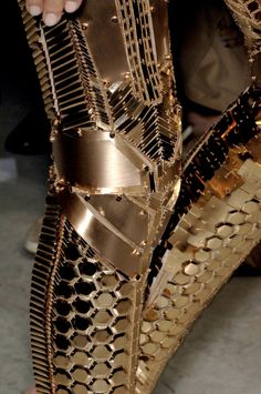 Balenciaga S/S 2007. The detail is crazy #fashion #runway #gold