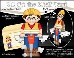 3D On The Shelf Card Kit - Workman Stephen Is At Work With His Pneumatic Drill
