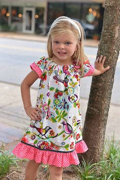 Hey, I found this really awesome Etsy listing at https://www.etsy.com/listing/154034190/last-one-girls-bird-peasant-dress-sizes