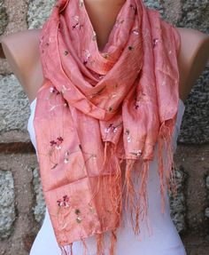 ON SALE  Graduation Gifts  Tea Rose  Scarf   Shawl by fatwoman, $18.00