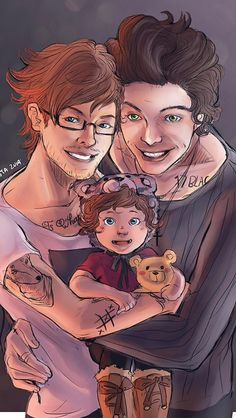 Beautiful Larry fan art Omg! This is sho cute i nearly died and OMGOMGOMG that is the cutest baby i have ever seen!!!
