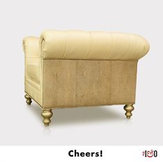 Love the soft blend of creamy bubbly pearlized and buff metallics in this Hemingway Chesterfield Chair by of Iron and Oak. American Made Furniture. Leather Chesterfield Chair, Leggett And Platt, Beach Chair With Canopy, Upholstered Swivel Chairs, Oversized Chair And Ottoman, Furniture Inspiration, Design Inspiration, Cool Chairs, Furniture Making