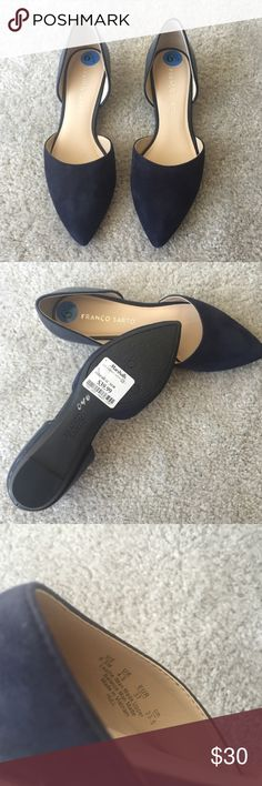 Franco Sarto blue suede flats Franco Sarto dark blue suede flats. size 6.5. purchased from Marshalls and never worn. Franco Sarto Shoes Flats & Loafers