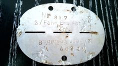 WWII WW2 ORIGINAL GERMAN ID / DOG TAG WAFFEN MILITARY DRIVER EAST FRONT