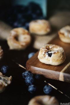 Baked Mini Blueberry Donuts from PasstheSushi.com