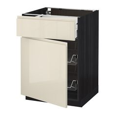 METOD Base cab w wire basket/drawer/door IKEA The drawer closes slowly, quietly and softly. 60 x 60 x80 cm
